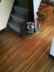 玄関ホール床張り替えBefore