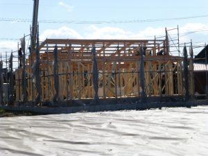 木造平屋建て注文住宅 建て方
