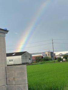 虹(2020.7.14夕方の稲沢市内)